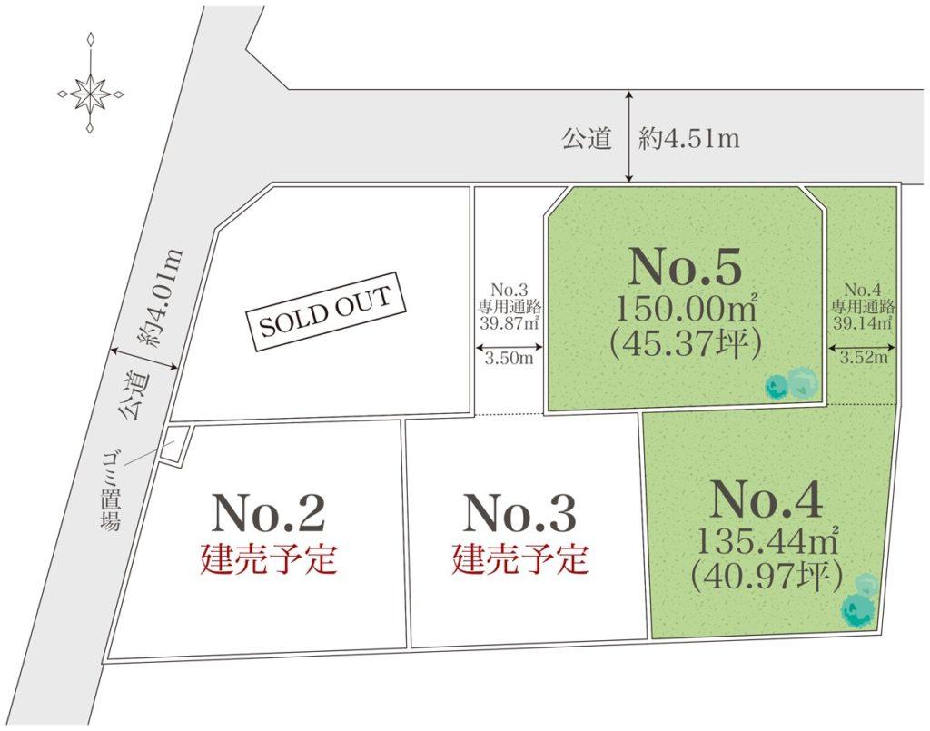 小田原市千代開発分譲全5区画
