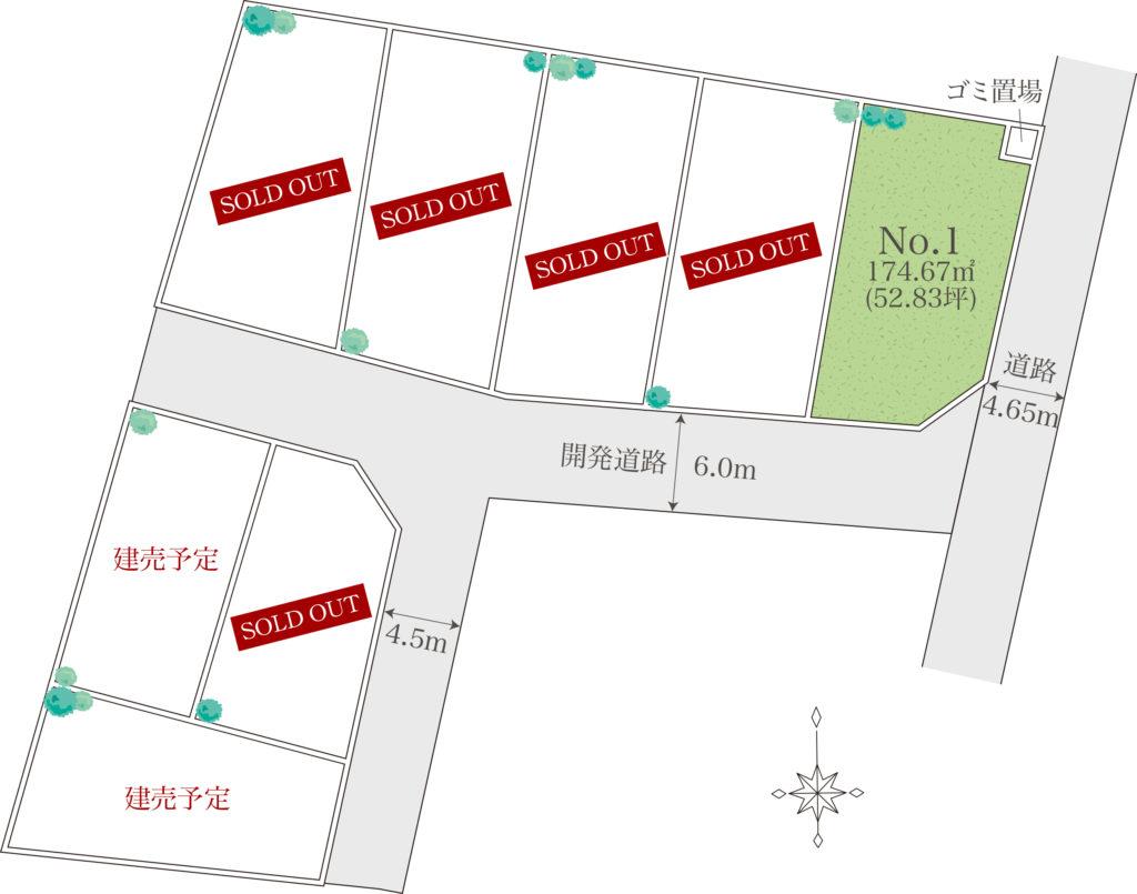 大井町金子全8宅開発分譲地(建築条件付き)